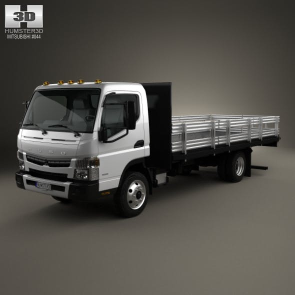 Mitsubishi Fuso Flatbed Truck 2013 - 3DOcean Item for Sale