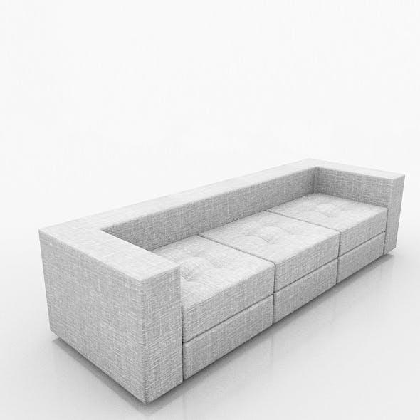 Fabric Sofa  - 3DOcean Item for Sale