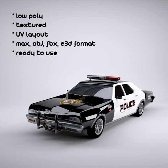 police car - 3DOcean Item for Sale