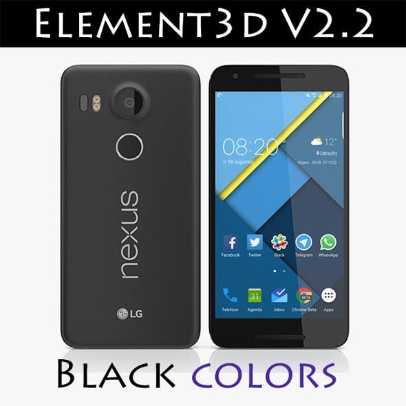 Element3D - LG Nexus 5X Black