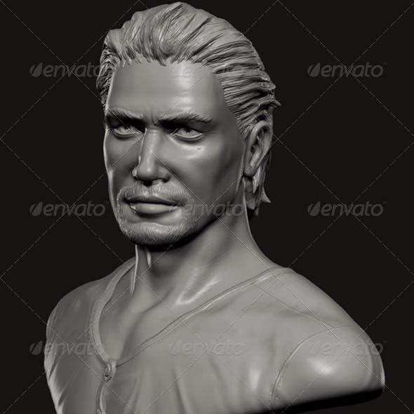 Male Celebrity Bust - 3DOcean Item for Sale