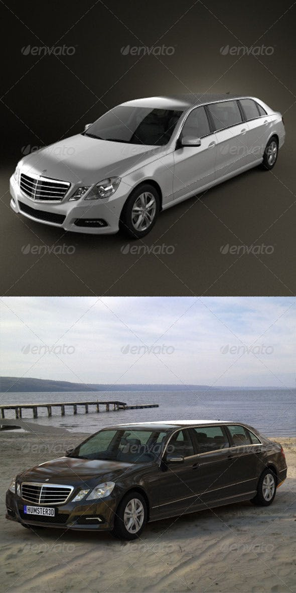 Mercedes Binz E-class Limousine 2010  - 3DOcean Item for Sale