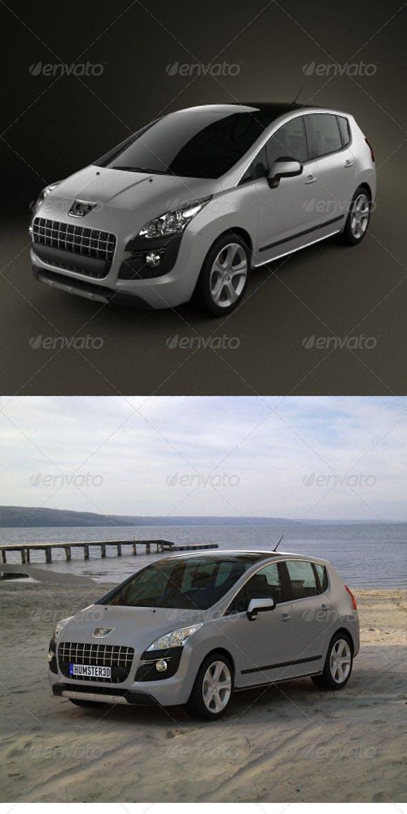 Peugeot 3008 2010  - 3DOcean Item for Sale