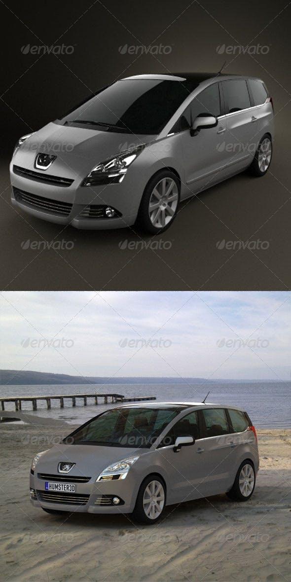 Peugeot 5008 2010  - 3DOcean Item for Sale