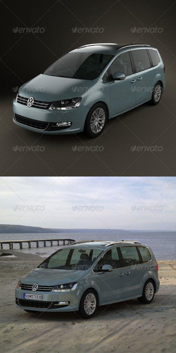 Volkswagen Sharan  - 3DOcean Item for Sale