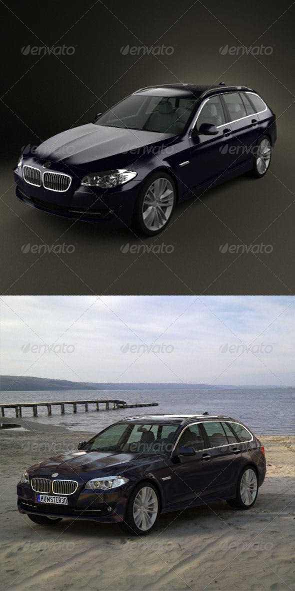 BMW 5 series touring 2011  - 3DOcean Item for Sale
