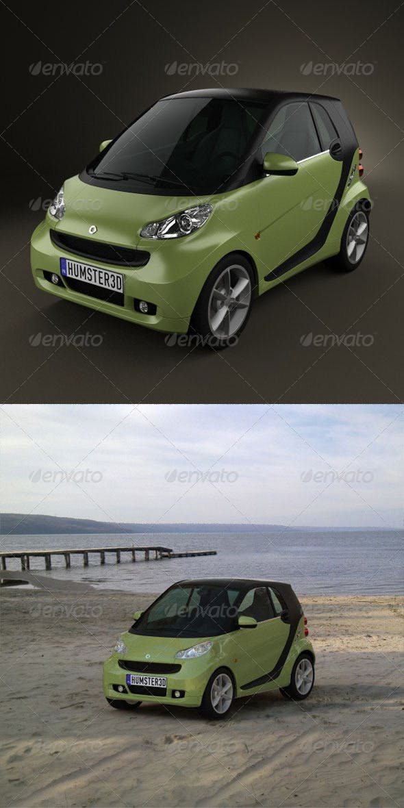 Smart ForTwo 2011  - 3DOcean Item for Sale