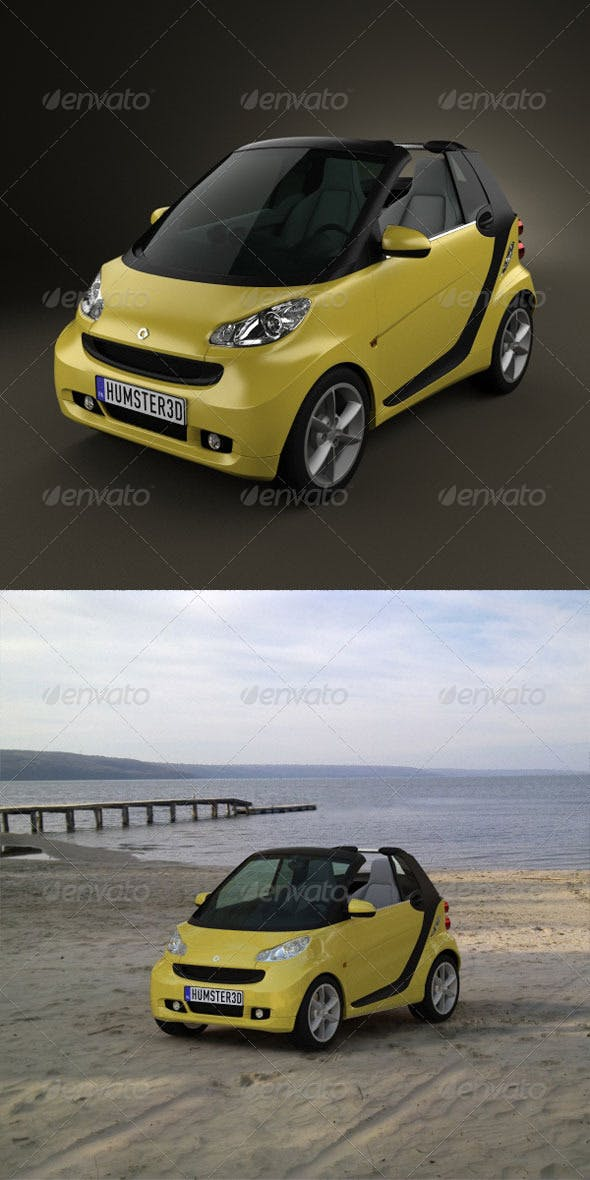 Smart ForTwo 2011 convertible openTop  - 3DOcean Item for Sale