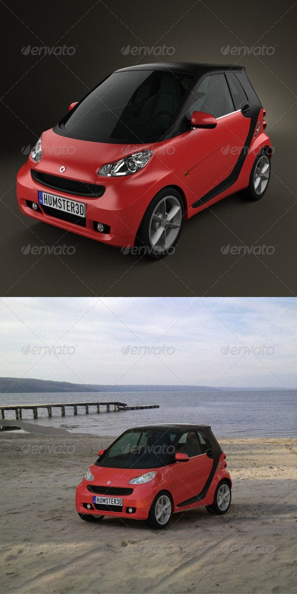 Smart ForTwo 2011 convertible closed Top  - 3DOcean Item for Sale