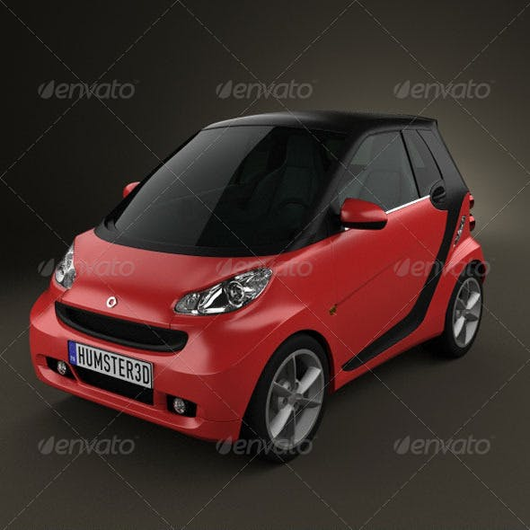 Smart ForTwo 2011 convertible closed Top