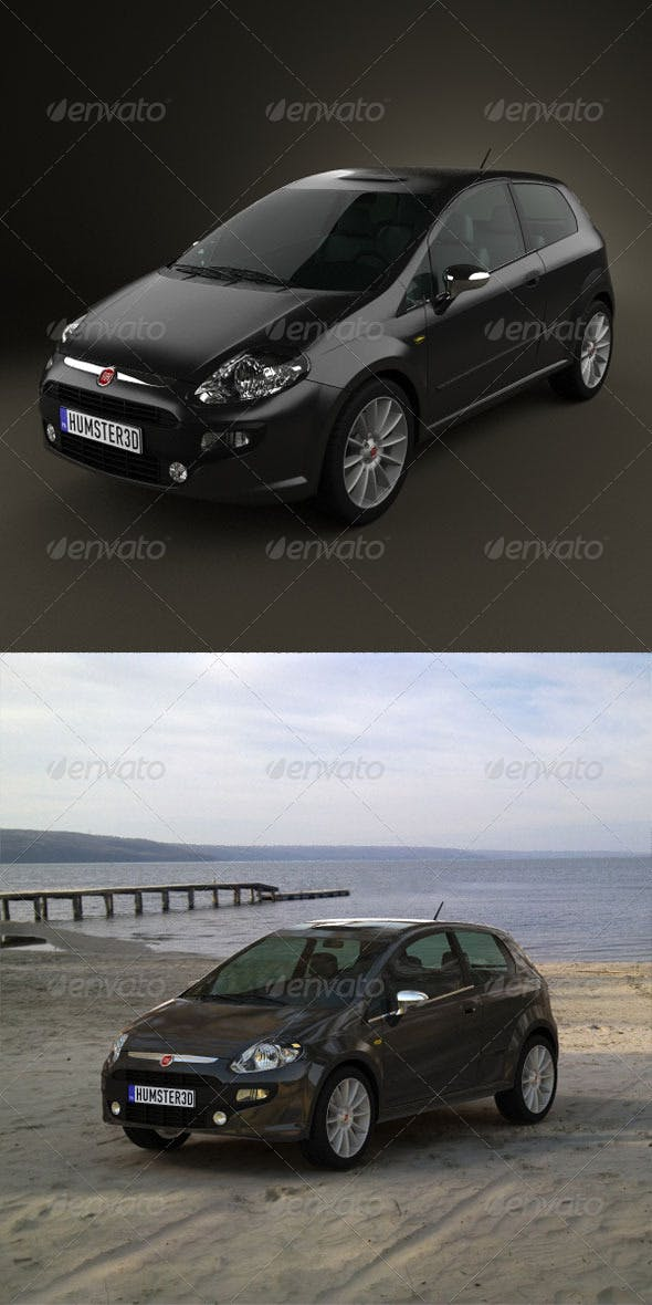 Fiat Punto Evo 3door 2010  - 3DOcean Item for Sale