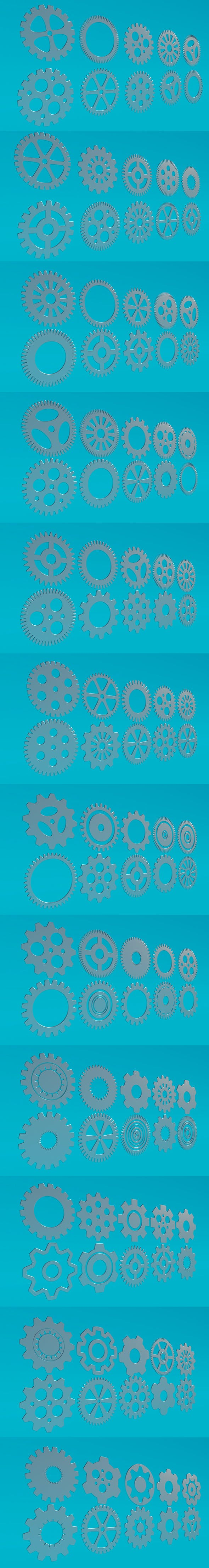 Gears Pack - 3DOcean Item for Sale