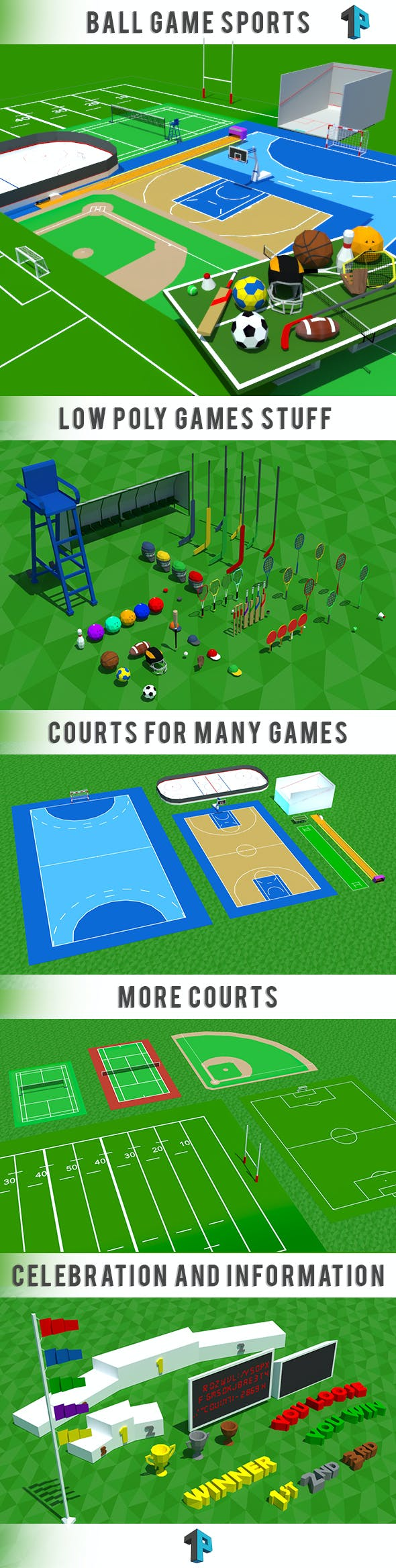 Ball Games - Ultimate Sport Package - 3DOcean Item for Sale