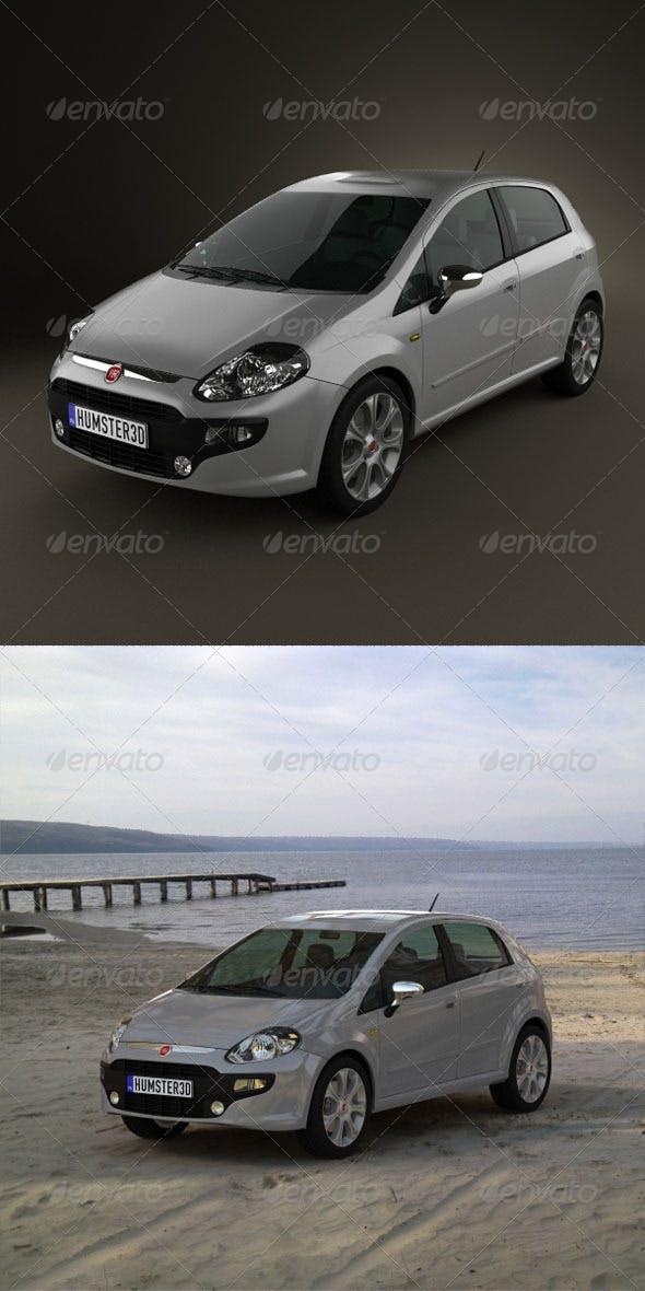 Fiat Punto Evo 5door 2010  - 3DOcean Item for Sale