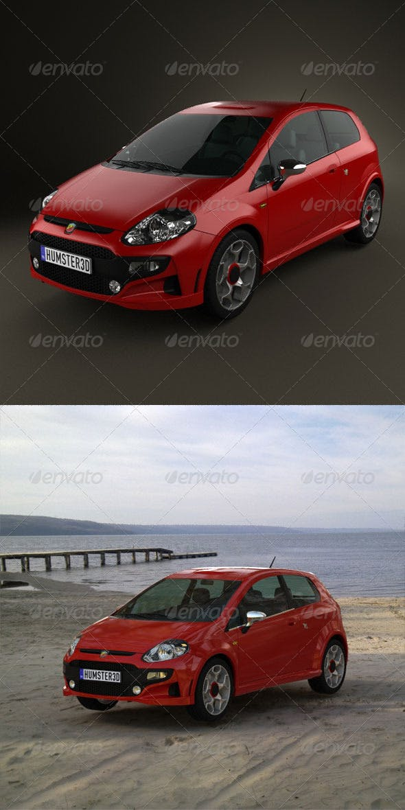 Fiat Punto Evo Abarth  - 3DOcean Item for Sale