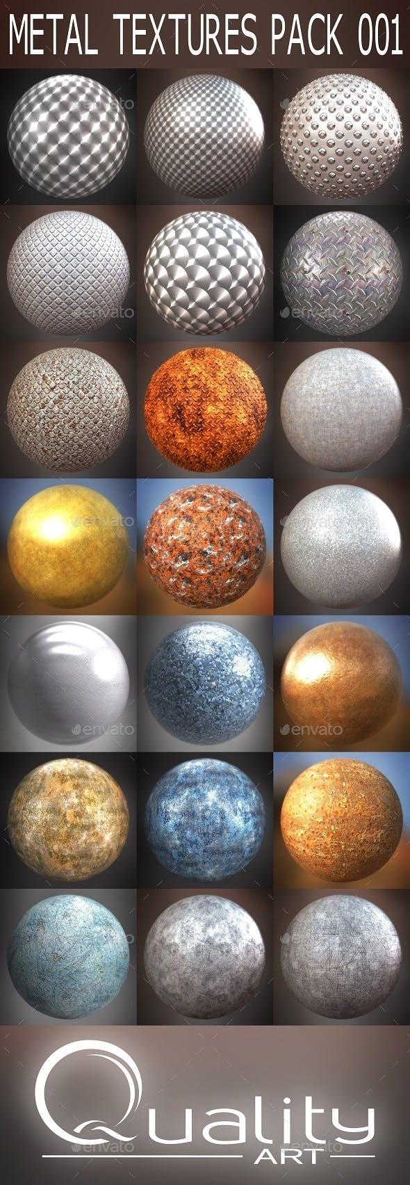 Metal Textures Pack 001 - 3DOcean Item for Sale
