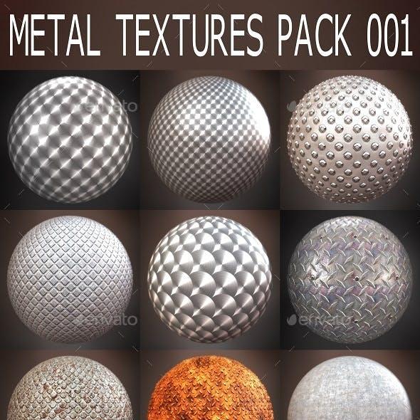 Metal Textures Pack 001