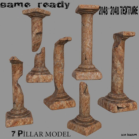 Pillar_Set - 3DOcean Item for Sale