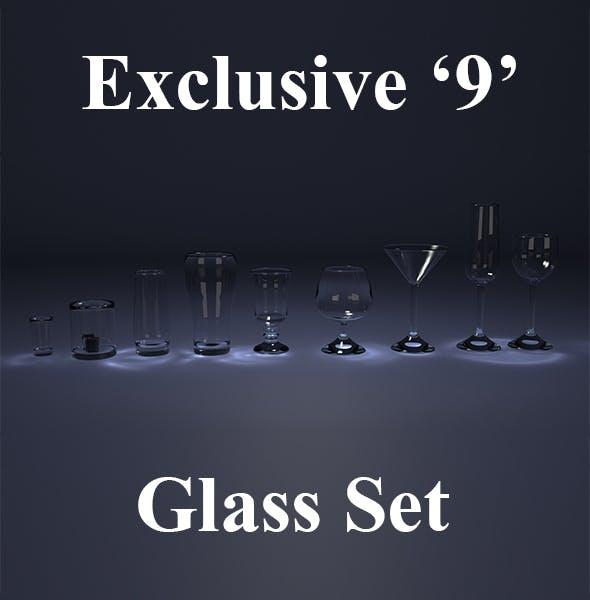 9 Glass Set - 3DOcean Item for Sale