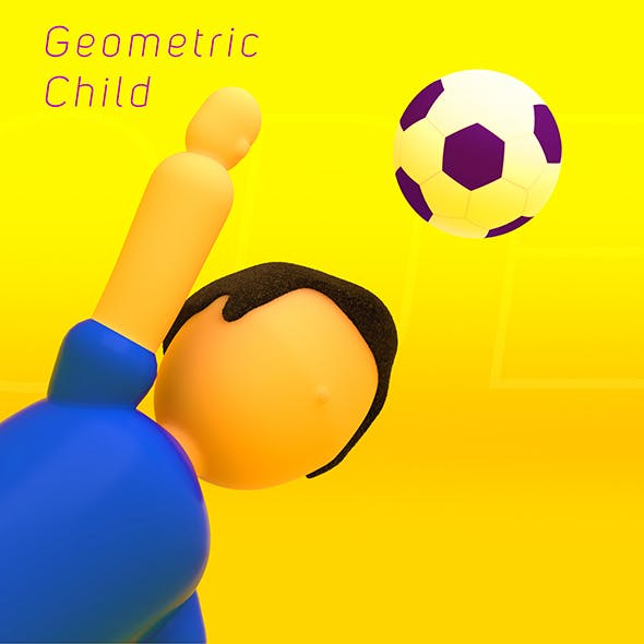 Geometric Low Poly Child - 3DOcean Item for Sale