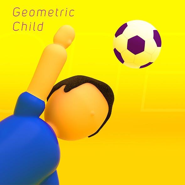 Geometric Low Poly Child