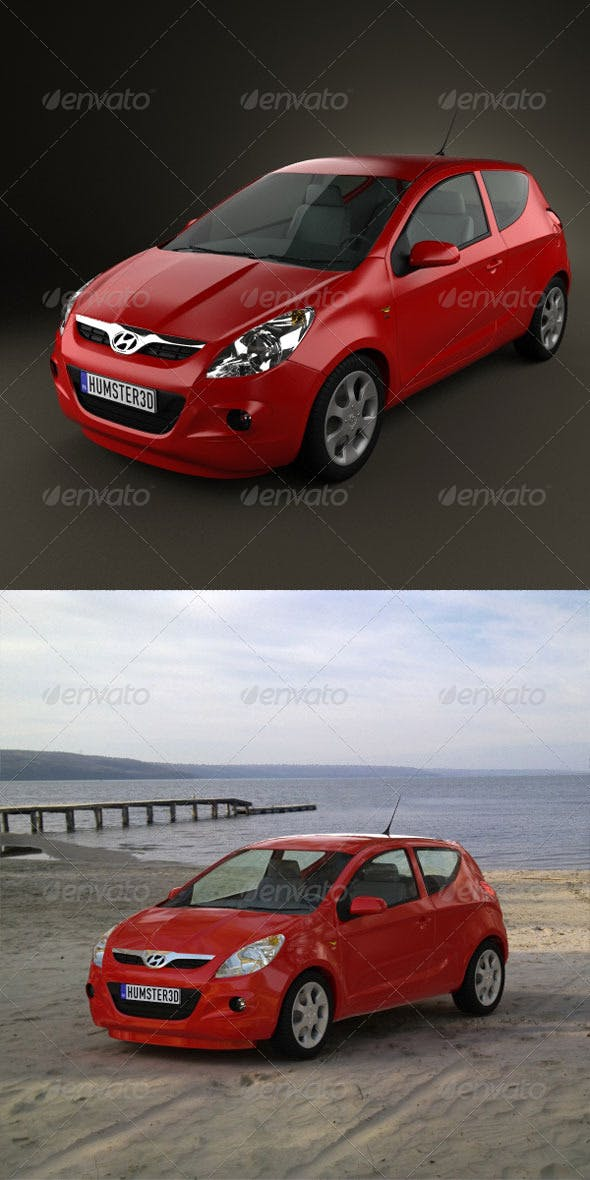 Hyundai i20  - 3DOcean Item for Sale