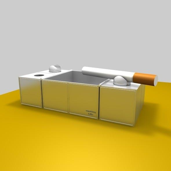 3d model ashtray  - 3DOcean Item for Sale