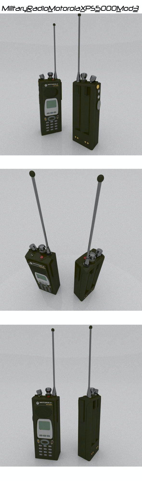 Military Radio Motorola XPS 5000 - 3DOcean Item for Sale