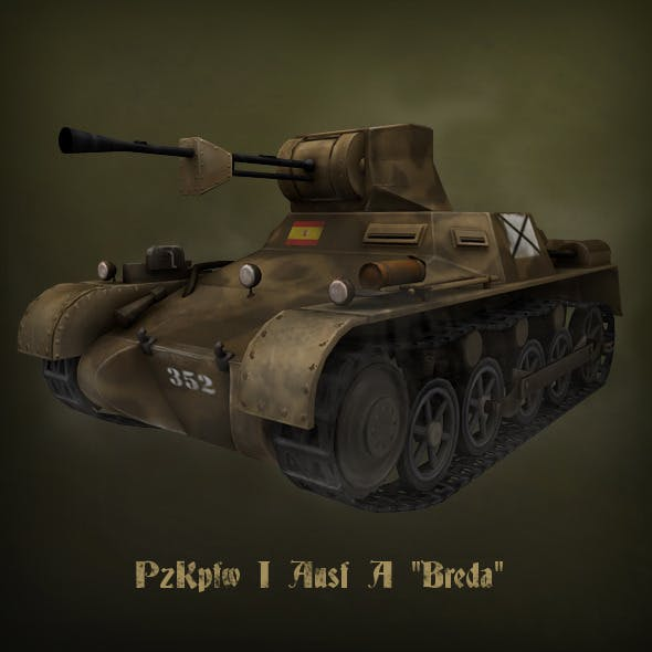 "PzKpfw I Ausf A ""Breda"" light tank - 3DOcean Item for Sale"