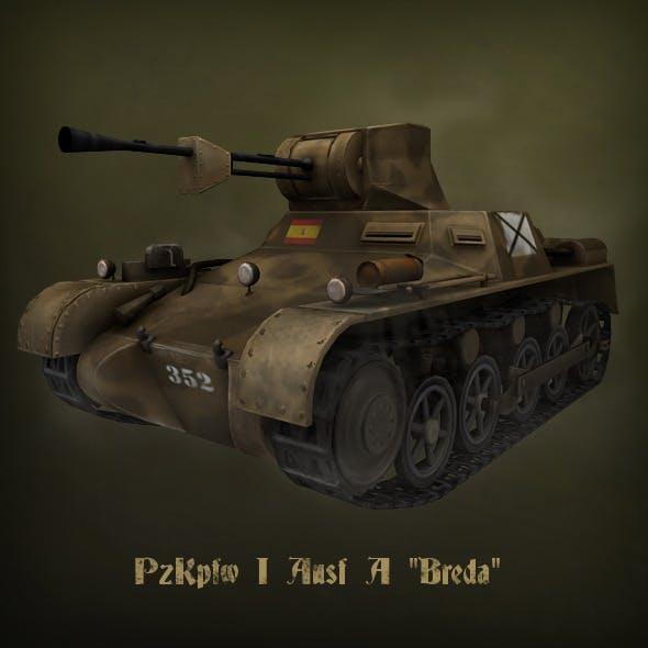 "PzKpfw I Ausf A ""Breda"" light tank"