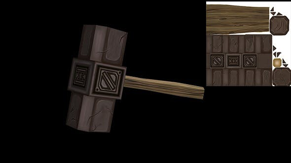 Low Poly Hammer Model - 3DOcean Item for Sale
