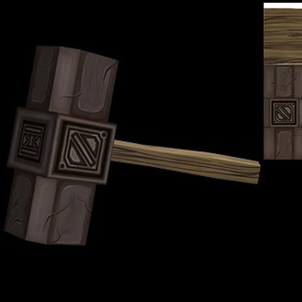 Low Poly Hammer Model