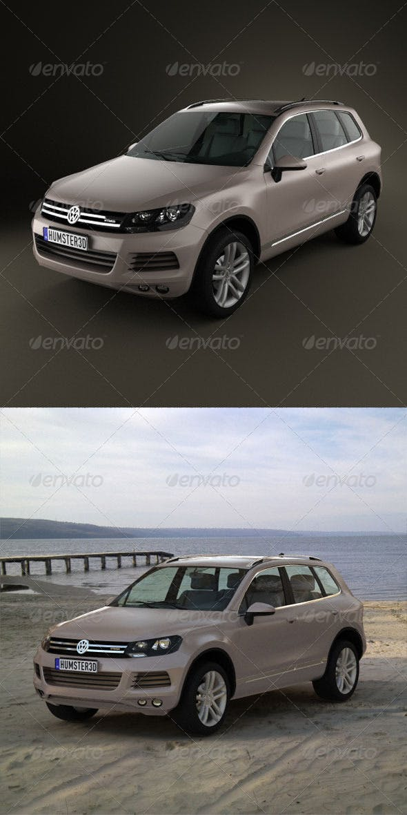 Volkswagen Touareg hybrid 2011 - 3DOcean Item for Sale