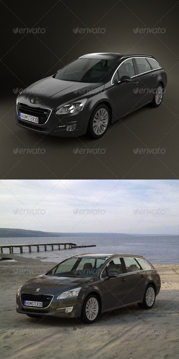 Peugeot 508 SW 2011  - 3DOcean Item for Sale