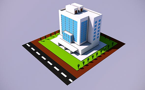 Low Poly Office - 2 (Ready to Render) - 3DOcean Item for Sale