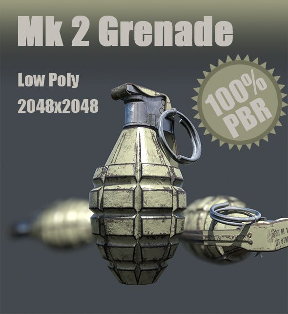 Mk 2 Grenade - 3DOcean Item for Sale