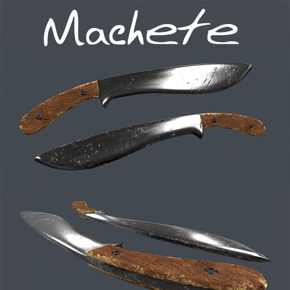 Machete, Low-Poly