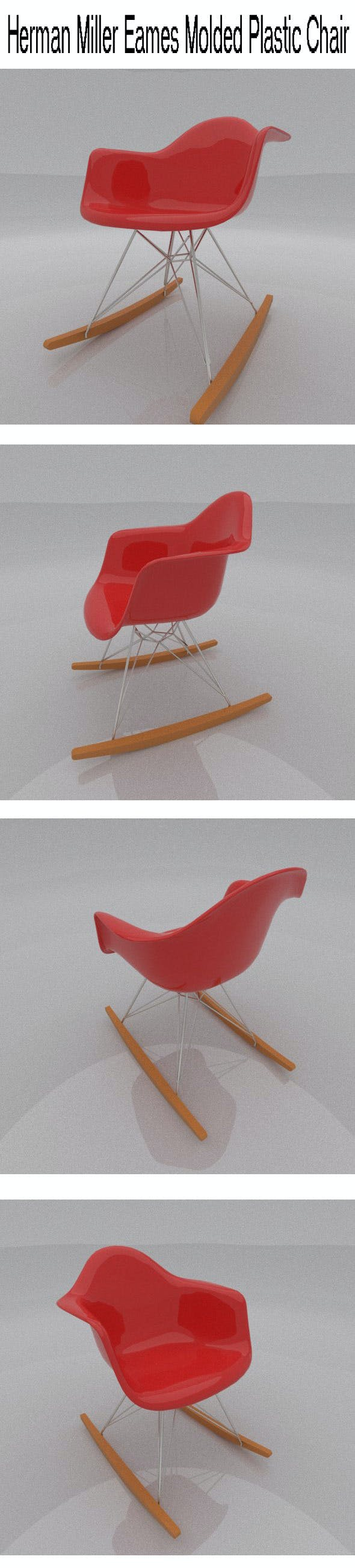 Herman Miller Eames Molded Plastic Chair - 3DOcean Item for Sale