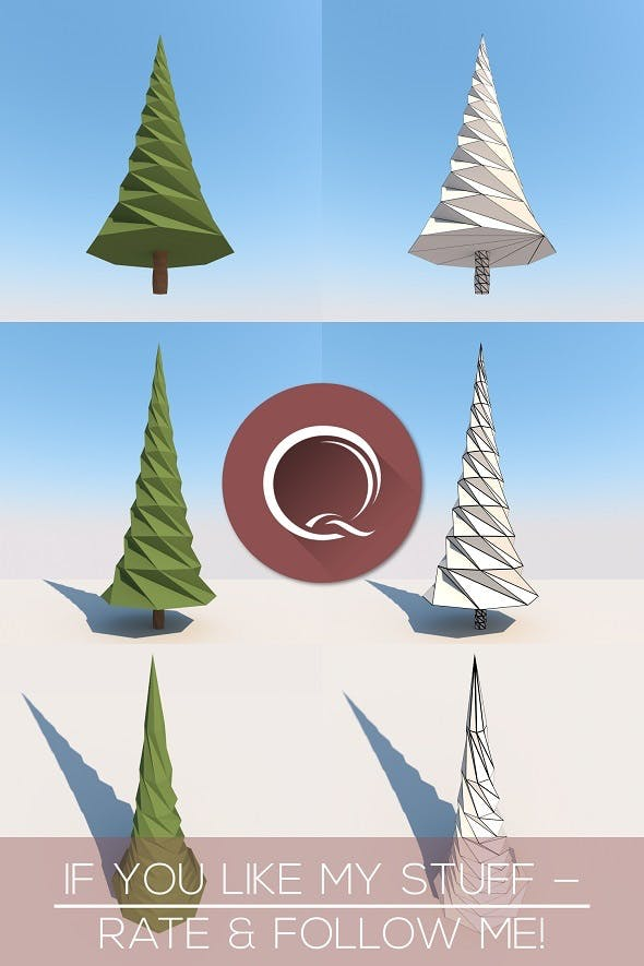 Low Poly Spruce - 3DOcean Item for Sale