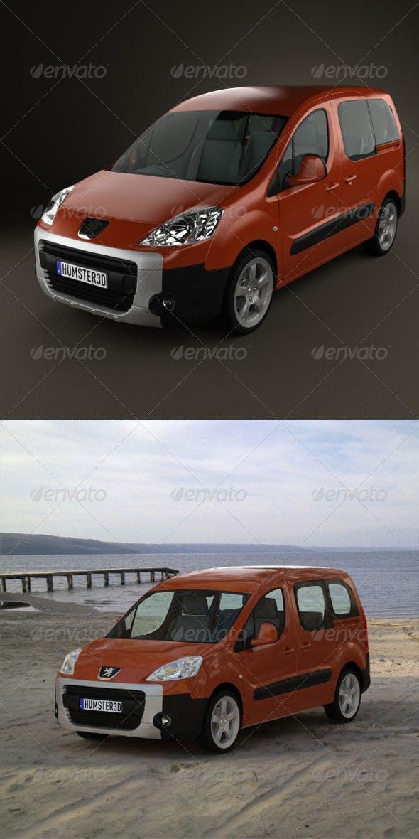 Peugeot Partner Tepee 2011  - 3DOcean Item for Sale
