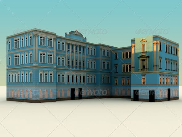 Low Polygon Buildings Vol.1  - 3DOcean Item for Sale