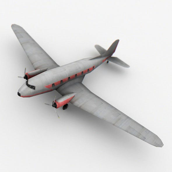 Low Poly Airplane - 3DOcean Item for Sale