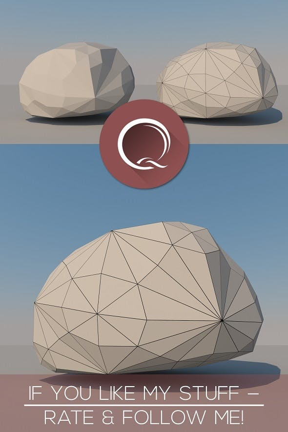 Low Poly Stone - 3DOcean Item for Sale