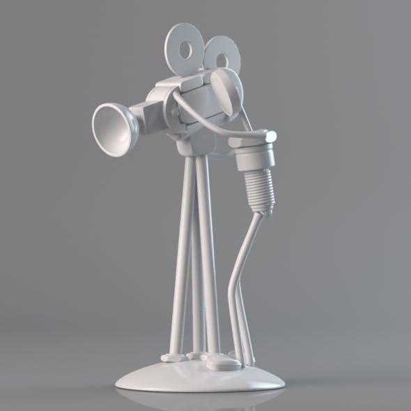 Nut & Bolt Cameraman Figure - 3DOcean Item for Sale