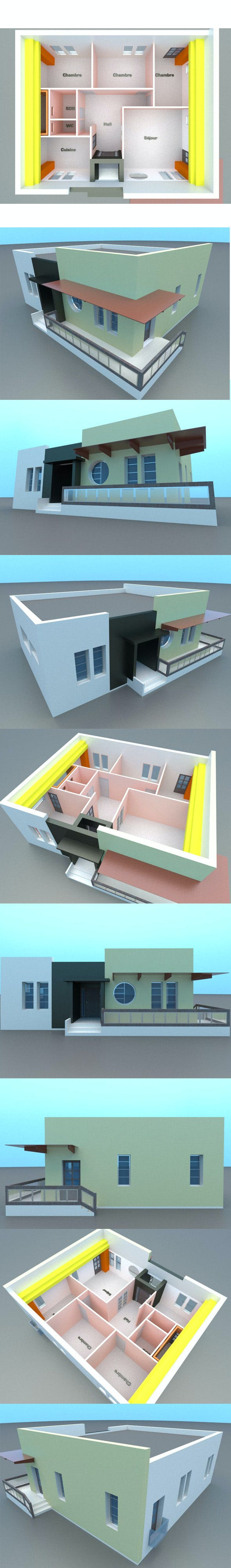 Precasted Modern house design with interior - 3DOcean Item for Sale