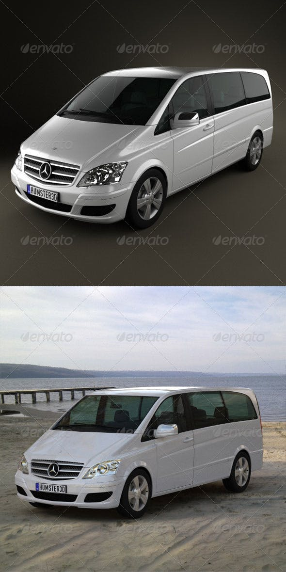 Mercedes-Benz Viano Long  - 3DOcean Item for Sale