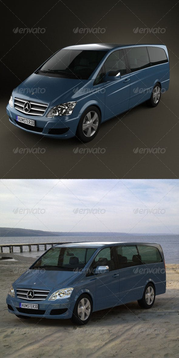 Mercedes-Benz Viano Extralong  - 3DOcean Item for Sale