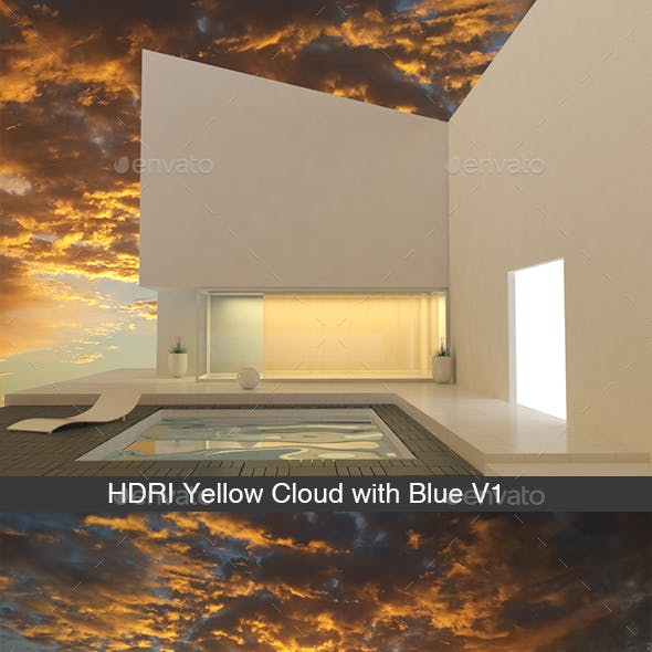 Yellow Cloud with Blue V1