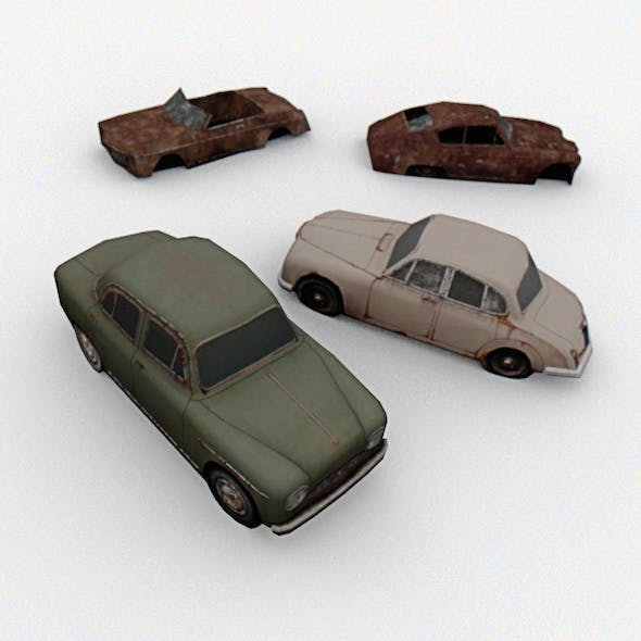 4 Old Cars