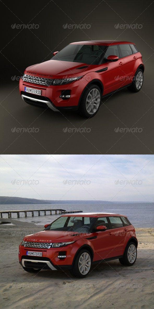 Range-Rover Evoque 2012 5-door  - 3DOcean Item for Sale